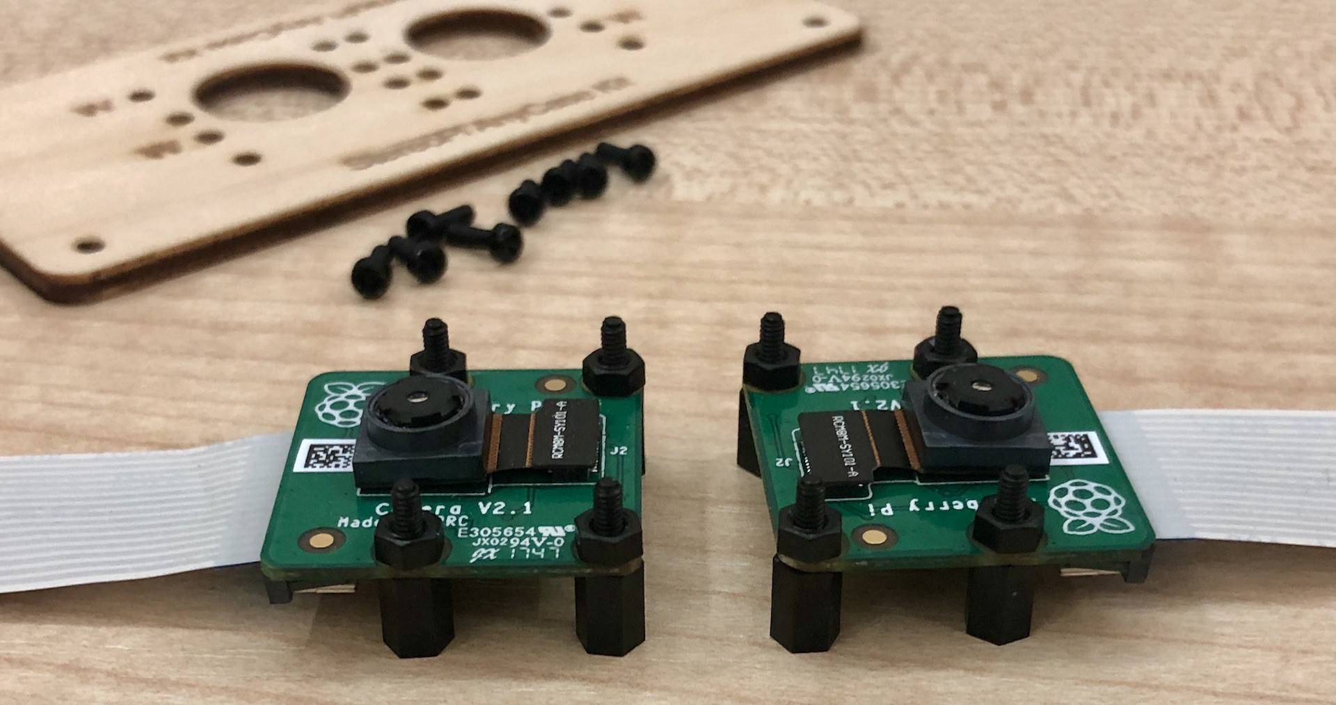V2 raspberry pi cameras with spacers