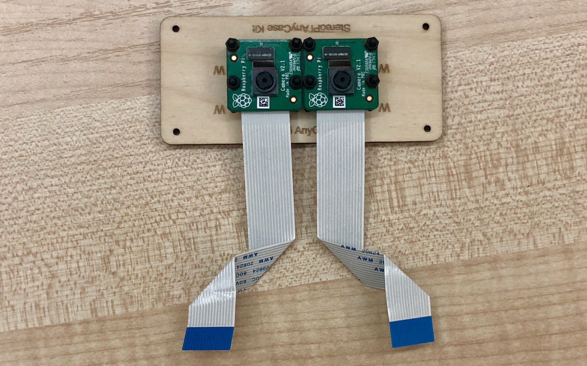 V2 pi cameras shaped ribbon cables